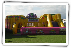 Inflatable children's party rides for hire!